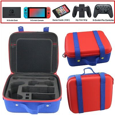 Mario Portable Carry Storage Case Bag For Nintendo Switch Console & Accessories
