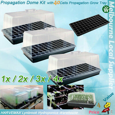 Hydroponic Propagation Dome Kit 40 Cells Seedling Cutting Clone Tray 1/2/3/4 Set