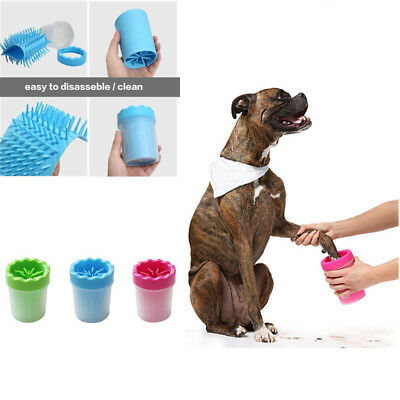 Portable Puppy Paw Cleaner Pet Cat Paw Plunger Mud Cleaner Dog Washer Cups