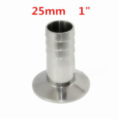 1.5'' Tri Clamp to 25mm 1''Hose Barb Adapter Stainless steel Connector Ferrule