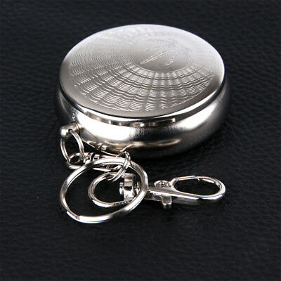 Mini Portable Pocket Stainless Steel Round Cigarette Ashtray
