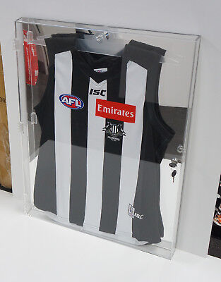 Deluxe Acrylic Football Jersey Jumper Display Case Mirror Back Finish - Quality