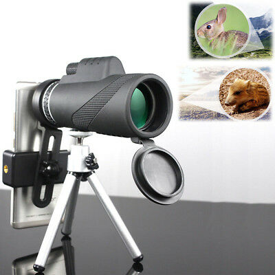 HD 40X60 Optical Zoom Clip on Camera Lens Phone Telescope+Holder For Cell Phone