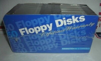 "Vintage IBM Formatted Diskettes Floppy Disks Lot of 50 2HD 3.5"" NEW Blank 1.44"