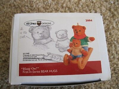 2004 Ed Seale Designs Ornament Hang On - Bear Hugs - 1st in Series - New in Box