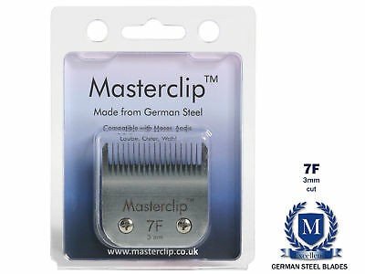 Dog Clipper Blade 7F A5 Masterclip German Steel Blades Carbon Cutter Fits Oster