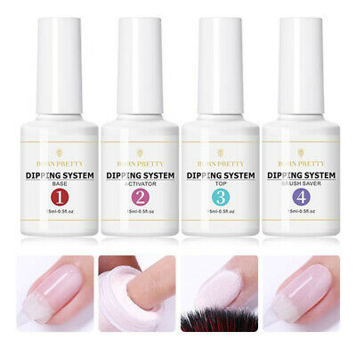 BORN PRETTY Dipping System Powder Liquid 4 Steps Kits Nail Gel No UV Needed
