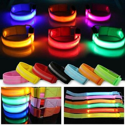 Reflective LED Light Arm Armband Strap Safety Belt For Night Cycling Running