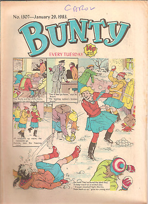 BUNTY No.1307,JAN.29,1983 D.C.THOMSON PUBLICATION with BUNTY'S CUT-OUT WARDROBE