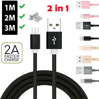 Heavy Duty Metal Braided Lightning USB Charger Cable 1M 2M 3M For iPhone X 8 7 6