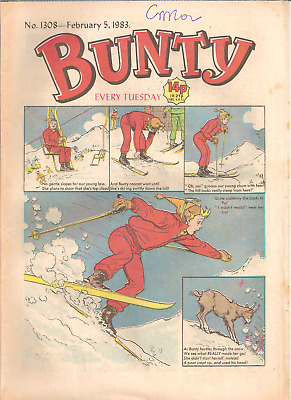 BUNTY No.1308,FEB.5,1983 D.C.THOMSON PUBLICATION with BUNTY'S CUT-OUT WARDROBE