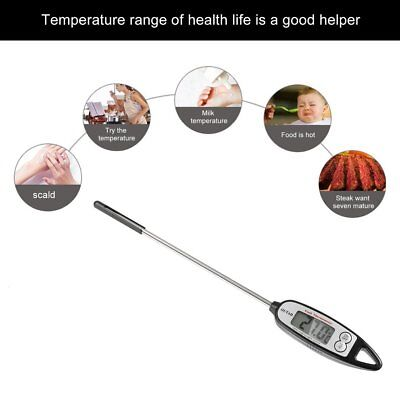 OUTAD Digital Cooking Thermometer Pen-style LCD Display Instant Read Compact SD