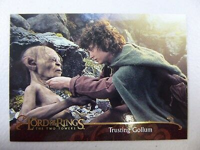 TOPPS Lord of the Rings: The Two Towers - Card #99 TRUSTING GOLLUM