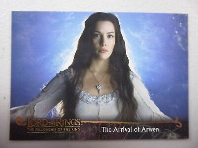 TOPPS Card : LOTR The Fellowship Of The Ring  #52 THE ARRIVAL OF ARWEN
