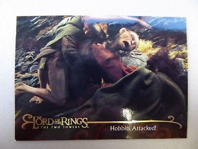 TOPPS Lord of the Rings: The Two Towers - Card #97 HOBBITS ATTACKED!