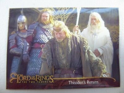 TOPPS Lord of the Rings: The Two Towers - Card #37 THEODEN'S RETURN
