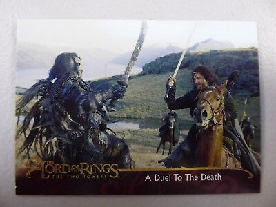 TOPPS Lord of the Rings: The Two Towers - Card #53 A DUEL TO THE DEATH