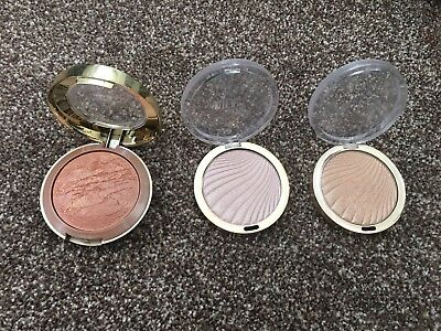 Milani Baked Bronzer And 2 Strobe Highlighters In Afterglow And Sunglow Rrp £55