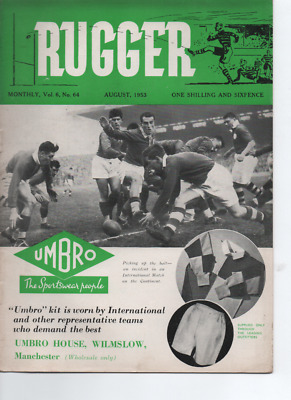 RUGBY UNION - Rugger magazine August 1953 Volume 6 Number 64