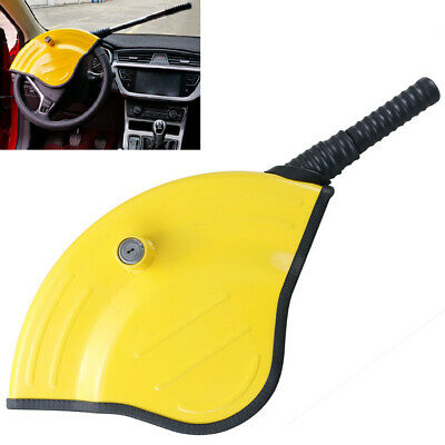 Steering Wheel Lock Universal Anti-Theft Safety Device Visible Yellow