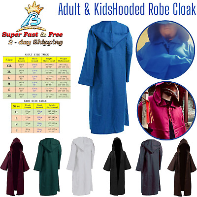 Star Wars Obi Wan Kenobi Costume Adult Knight Costume Master Cloak Outfit NEW