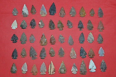 "1,000 PC 1"" Lot Flint Arrowhead OH Collection Project Spear Points Knife Blade"