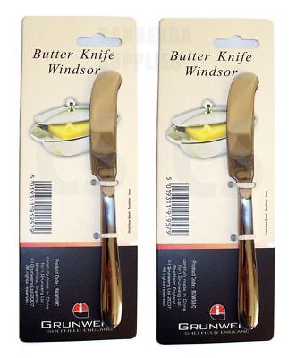 2 X Windsor By Grunwerg Butter Spreading Knives Stainless Steel