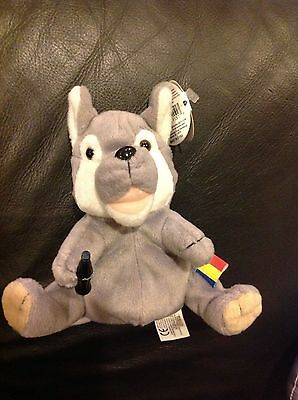 1999 Coca-Cola / Coke International Collection - Plush Bean Bag Dog Wolf Romania