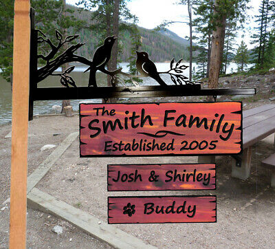 Custom Carved Cedar Wood Sign -Personalized- Last Name Gift Plaque Home Decor