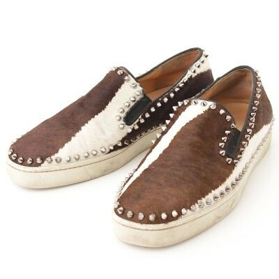 88fc07102de2 Authentic Christian Louboutin Pickboat Harako Spike Slip-Ons Grade B Used-At