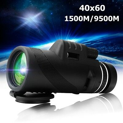 High Power 40X60 HD Monocular Telescope Shimmer Day Night  Vision Outdoor Hiking