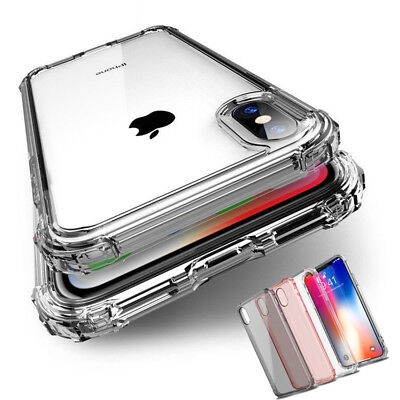 Shockproof Bumper Transparent Clear TPU Silicone Case Cover For Various Phones