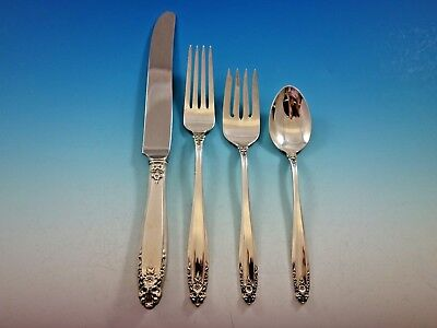 Prelude by International Sterling Silver Flatware Set Service 24 Pieces