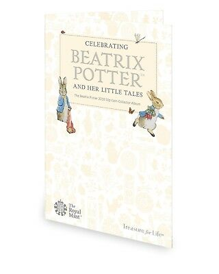 The Royal Mint 2018 Beatrix Potter 50p Fifty pence Coin hunt collector album NEW