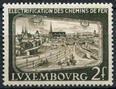 Luxembourg 1956 SG#612 Electrification Of Railways MH #D78465