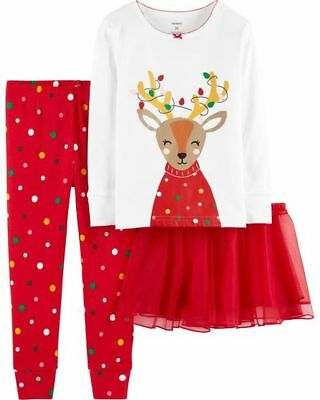 c2b3b304e CARTER S® GIRLS  12-14 Red Gingerbread Holiday Nightgown NWT ...
