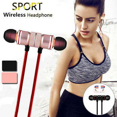 Wireless Magnet Headset Bluetooth Sport Earphone Headphone For iPhone Samsung LG