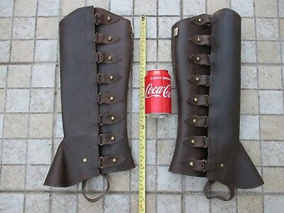 Genuine Leather GE Saddlery Adjustable Large Gaiters Horse Riding Chaps