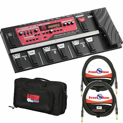 Boss RC 300 Loop Station Looper Pedal Board w/ DLX Pedal Bag and 2 Guitar Cables