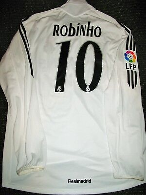 new concept 70758 2bffb ROBINHO REAL MADRID Match Worn Jersey 2005 2006 Shirt Camiseta Maglia  Brazil L