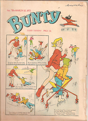 BUNTY No.791,MARCH 10,1973 D.C.THOMSON PUBLICATION with BUNTY'S CUT-OUT WARDROBE