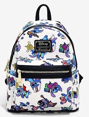 New Loungefly Disney Lilo & Stitch Characters Mini Backpack