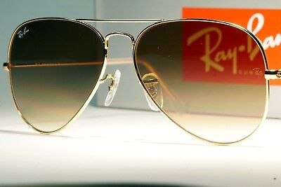 74a77e33b8ade Ray-Ban Aviator RB3025 001 51 Gradient Gold Frame Light Brown Gradient  Lenses