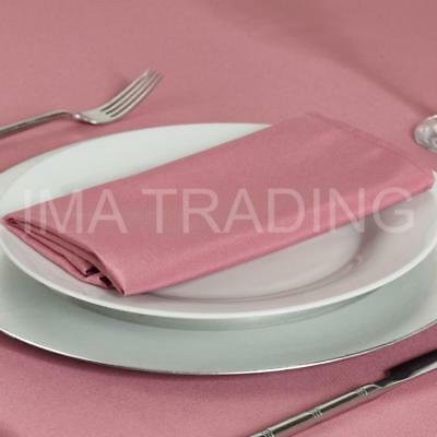 BLUSH PINK ROUND TABLECLOTH 230cm, 90 Inch, 220GSM SPUN POLYESTER TABLE CLOTH