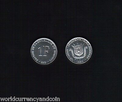 Burundi 1 Francs Km19 1993 Coat Of Arms Unc Un Common Africa Money Coin