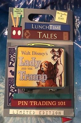 Disney Pin of the Month Lunch Time Tales Lady and the Tramp LE 1500 New for 2018