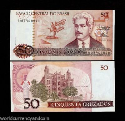 Brazil P-210 Fifty Cruzados Year ND 1986-88 Uncirculated Banknote