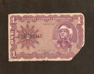 United States Usa $1 Dollar P M79 1969 Mpc Military Ser 681 Fighter Plane Note