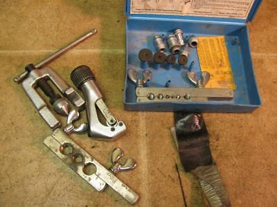 """Imperial 3/16""""-3/4"""" 45 Degree Tubing Double Flare Swage Tool Kit Set Pipe Cutter"""