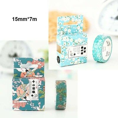 Japan Style DIY Adhesive Washi Masking Tape Sticker Crafts Scrapbooking Stickers
